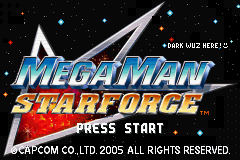 Mega Man Battle Network 6 - DarkCross (Bass Cross) Title Screen